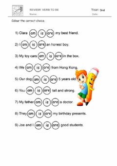 Interactive worksheet Am - is - are