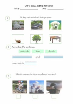 Interactive worksheet Social science unit 3 1º weather