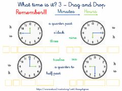 Ficha interactiva What Time is it? 3 - Drag and Drop