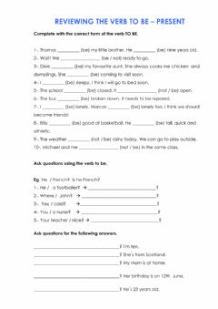 Interactive worksheet Verb to be - affirmative-negative and interrogative