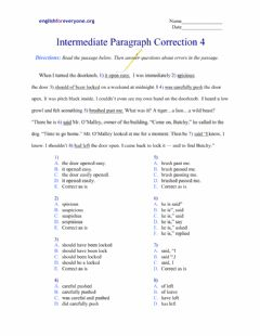 Interactive worksheet Paragraph Corrections 4