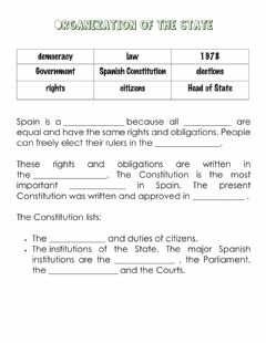 Interactive worksheet Organization of the State I
