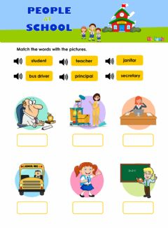 Interactive worksheet People at school - Vocabulary Review