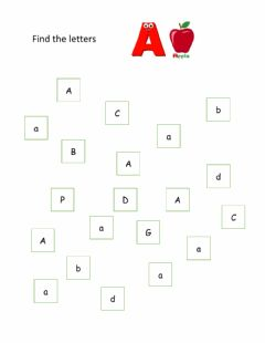 Interactive worksheet Find the letter A