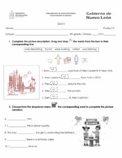 Interactive worksheet Product 5 Quiz 4th grade