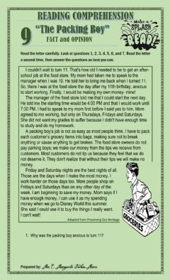 Interactive worksheet The Packing Boy - Fact and Opinion