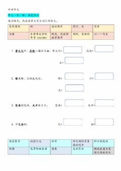 Interactive worksheet 桃花源记