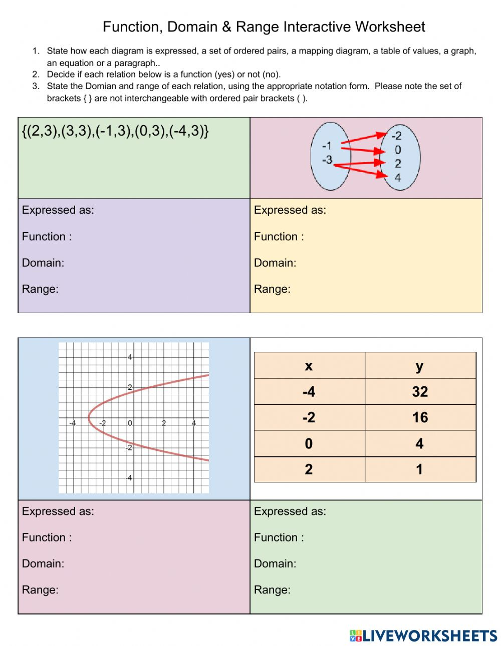 Domain 3 expressions and equations practice answer key