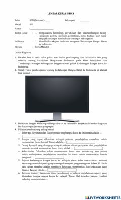 Interactive worksheet Lkpd ips kelas 8 semester 2