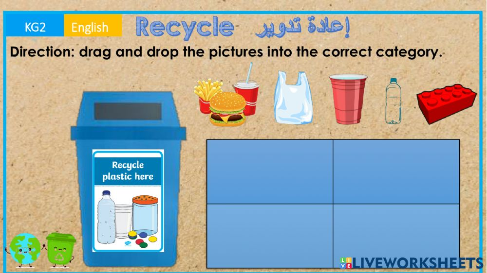 Recycle Sort Activity - 36+ Recycling Sorting Worksheets For Kindergarten Background