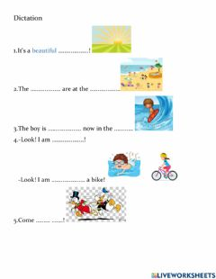 Interactive worksheet Dictation lesson 16 Jet A Junior