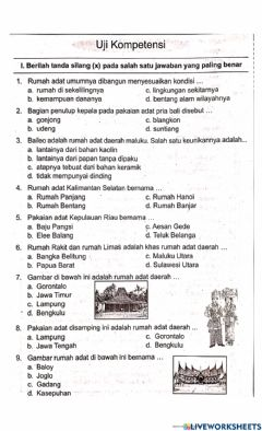 Interactive worksheet Uji kompetensi K4T7S2IPS