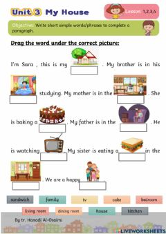 Interactive worksheet We Can 4 My House