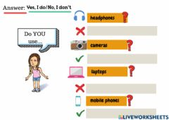 Interactive worksheet Do you..?