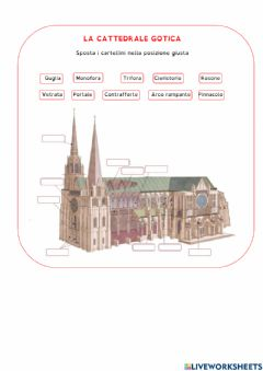Interactive worksheet cattedrale gotica