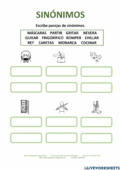 Interactive worksheet Sinónimos