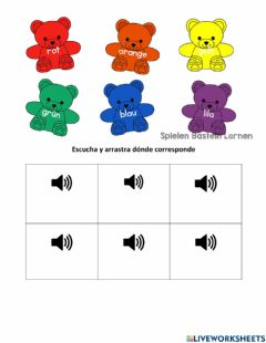 Interactive worksheet Farben