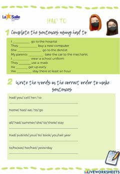 Interactive worksheet Grammar focus unit 4