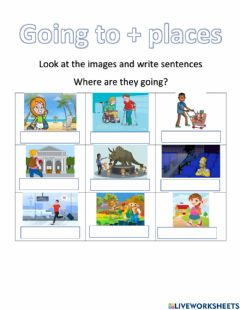 Interactive worksheet Going + places