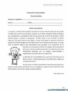 Ficha interactiva Diagnostico ciencias sociales 4
