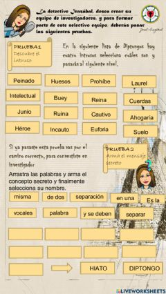 Interactive worksheet Diptongos, hiatos y triptongos