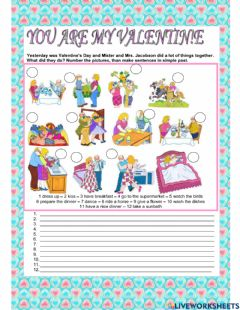 Interactive worksheet Writing Valentine's Day