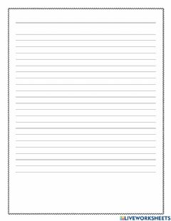 Interactive worksheet Blank Writing Paper