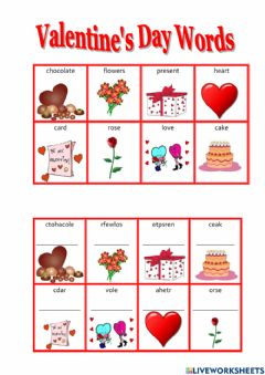 Interactive worksheet Valentine's day for beginners
