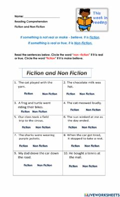 Interactive worksheet Fiction or Nonfiction