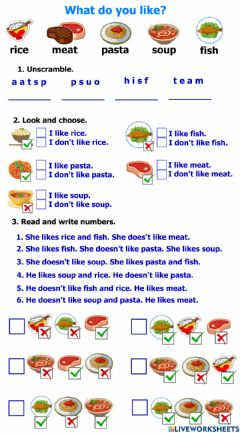 Interactive worksheet Meals (1)