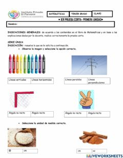Interactive worksheet Prueba corta