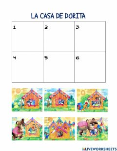 Interactive worksheet La casita de dora
