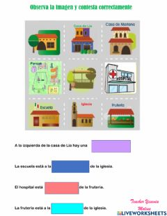 Interactive worksheet Nociones espaciales