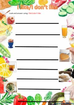 Interactive worksheet Good food