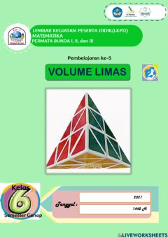 Interactive worksheet Volume Limas