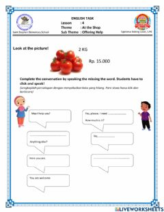 Interactive worksheet Tugas Online for Sixth Grade