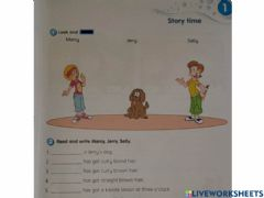 Interactive worksheet Module 1 - Story Time