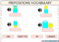 Interactive worksheet Prepositions Vocabulary