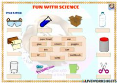 Interactive worksheet Grade 4-Unit 6-Fun with science