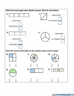 Interactive worksheet Unit Fractions