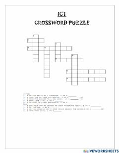 Ficha interactiva ICT Crossword