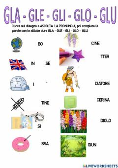 Interactive worksheet Suono duro gl