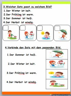 Interactive worksheet Das Wetter