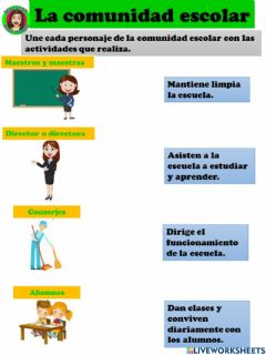 Interactive worksheet Mi comunidad escolar