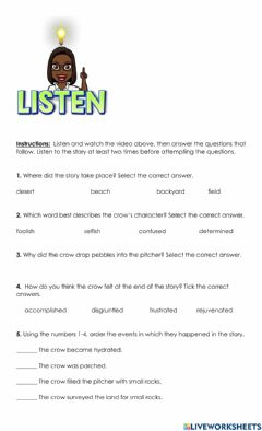 Ficha interactiva Listening Comprehension