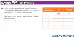 Interactive worksheet G6 Exit function tables