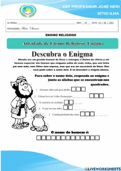 Interactive worksheet Enigma