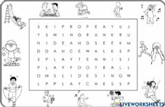 Interactive worksheet 2.6. At The Playground - Wordsearch 2