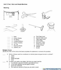 Interactive worksheet Unit 12 Assessment page 1