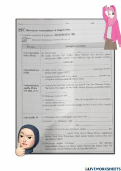 Interactive worksheet Bab 2.5 tingkatan 4